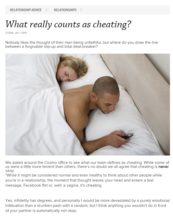 what really count as cheating by your spouse